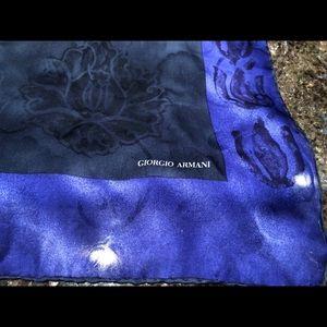"Giorgio Armani 100% Silk Scarf 24"" x 48"""